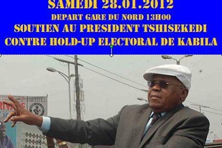 Grande marche à Bruxelles contre le Hold-Up électoral. Le 28 janvier 2012 à 14h30