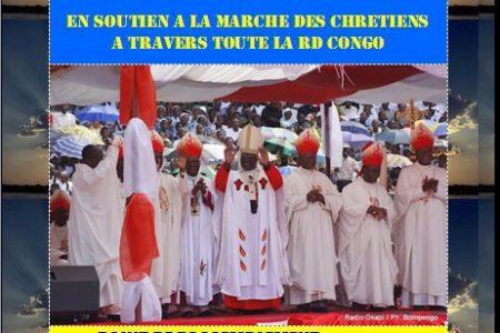 Belgique: Grande marche à Bruxelles en soutien à la marche des Chrétiens en RDC, le 16 février 2012