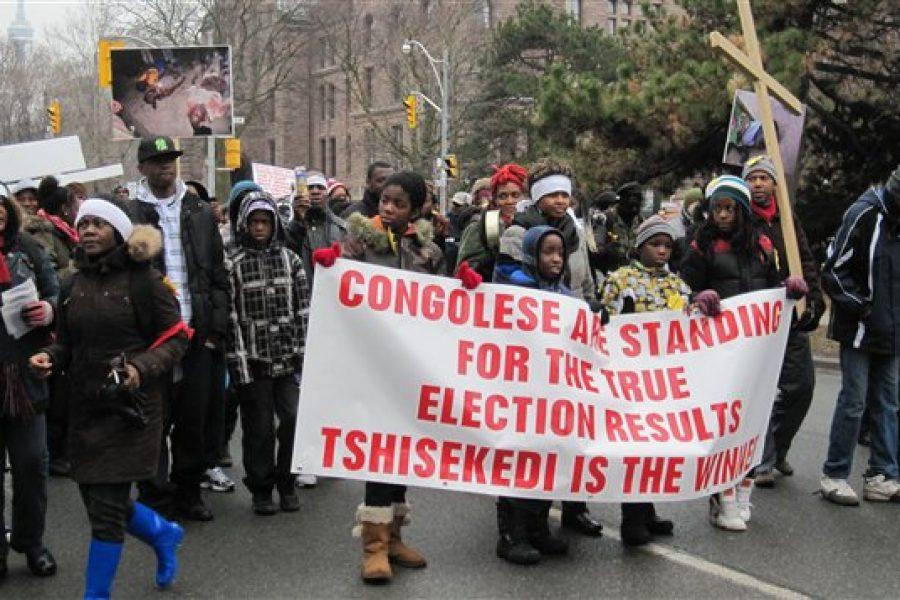RADIO-CANADA : Des membres de la communauté congolaise manifestent à Toronto