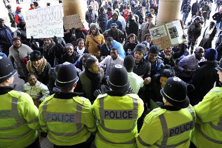 Congo protest: Hundreds march through Birmingham (UK)