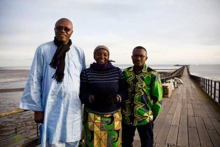 London, UK: Forest witnesses show how Olympics and Southend pier link to Congo