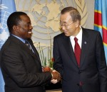 Joseph Kabila et Ban Ki-Moon aux Nations Unies, NY