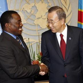 Joseph Kabila et Ban Ki-Moon aux Nations Unies, NY