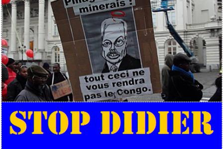 Belgique : Marche contre le départ de Reynders au Congo, vendredi 23 mars 2012 à Bruxelles