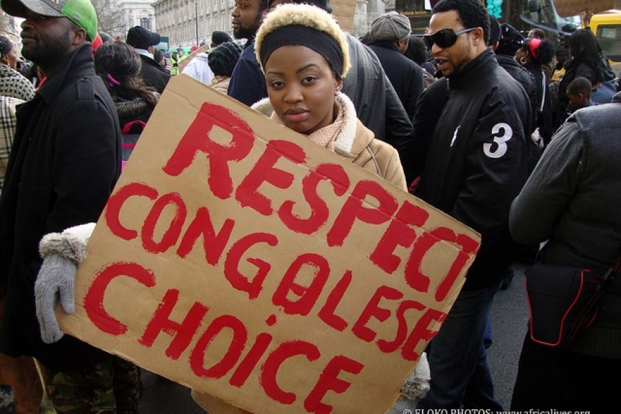 UK: Congolese demonstration at the London Stock Exchange, 8th March 2012
