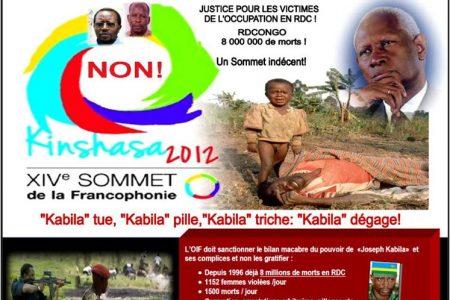 Manifestation: «Non au 14ème sommet de la Francophonie à Kinshasa», le 2 juin à Paris