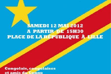 Grande marche pour la paix et la démocratie en RDC, à Lille, le 12 mai 2012