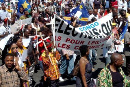 Manifestation de Congolais devant l'ambassade du Rwanda à Bruxelles