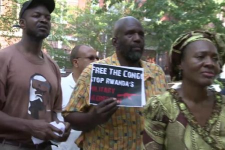 Sit-in devant l'ambassade du Rwanda à Washington DC, USA