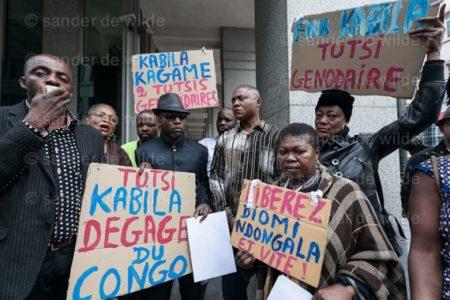 Bruxelles:  Sit-in devant l'ambassade du Rwanda, le 20 juillet 2012