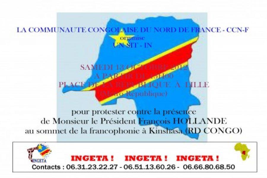Non à la Francophonie : Sit-in à Lille, le 13 octobre 2012