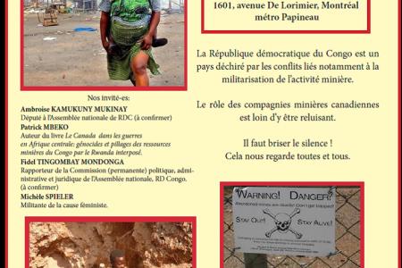 Conférence: Violences et conflits armés en RDC, le Canada complice? – Montréal, le 16 oct. 2012