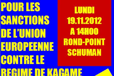 Bruxelles: Sit-in pour les sanctions de l'UE contre le régime de Kagame