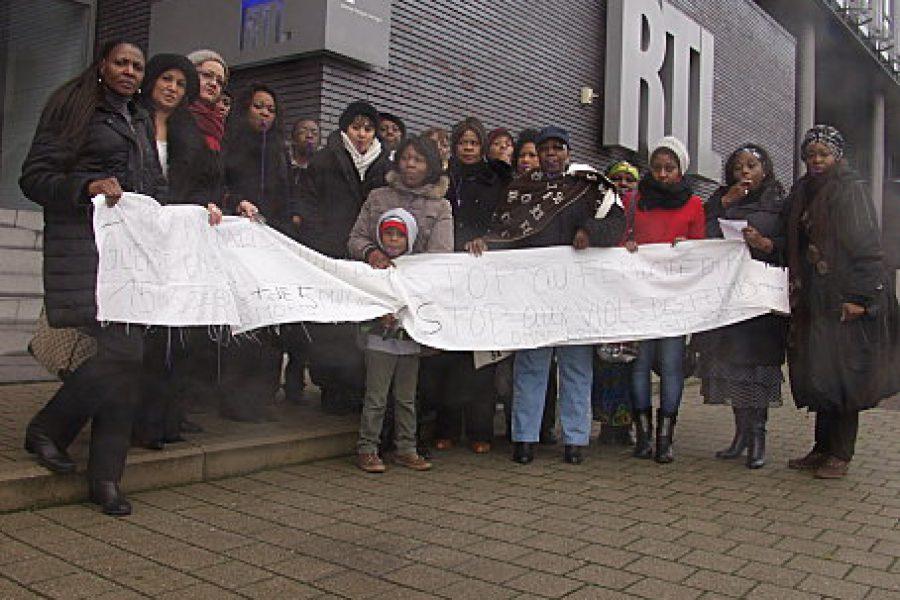 Belgique: Flashmob de congolaises devant la chaîne RTL-TVI
