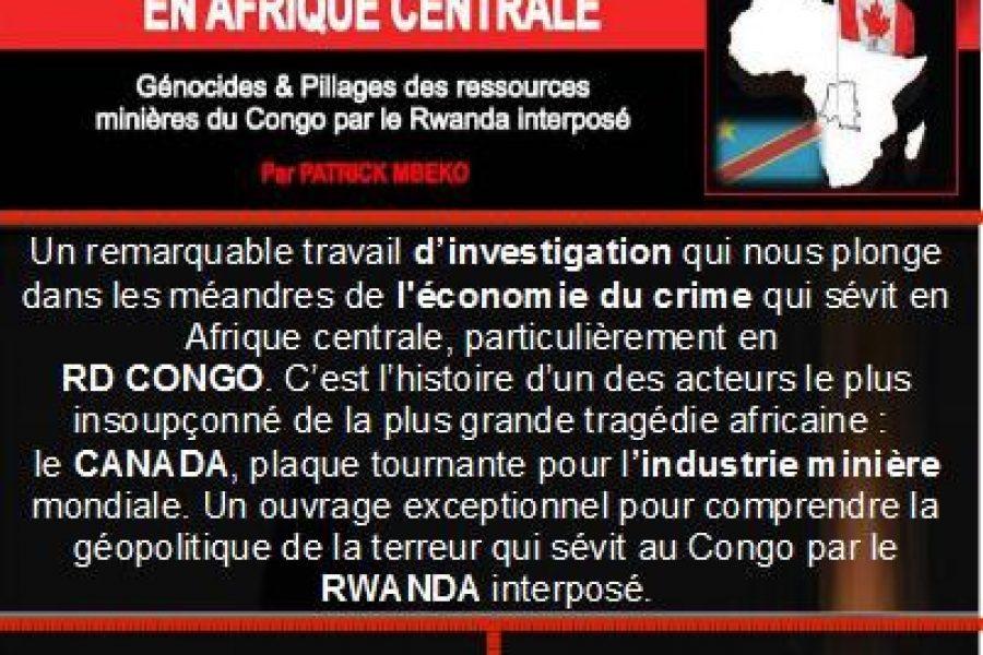 Paris, le 15 déc. 2012: «Génocide & Pillages au Congo», rencontre-débat avec Patrick Mbeko