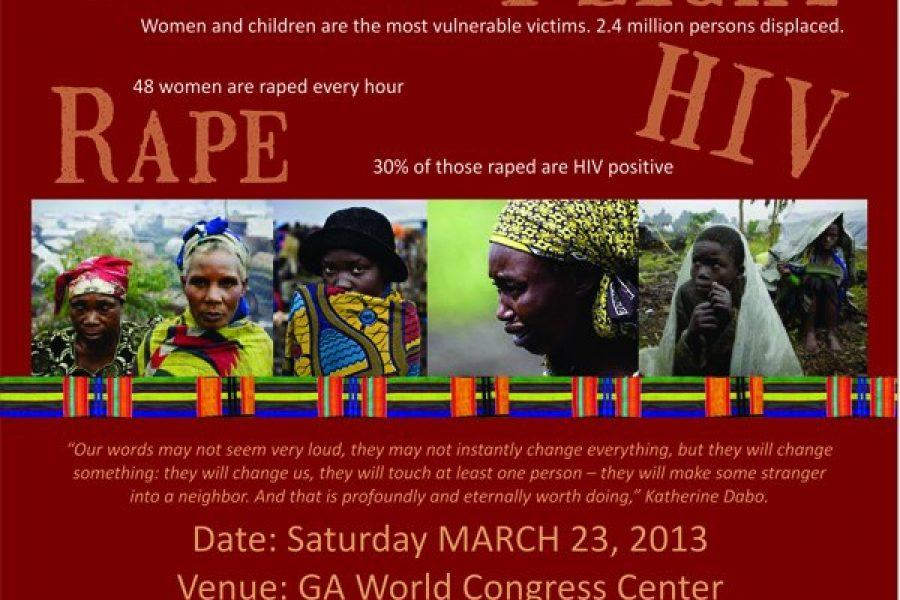 March 23rd, 2013: Million Woman Walk for Congo in Atlanta, USA.