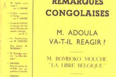 La revue «Remarques Congolaises», 1962