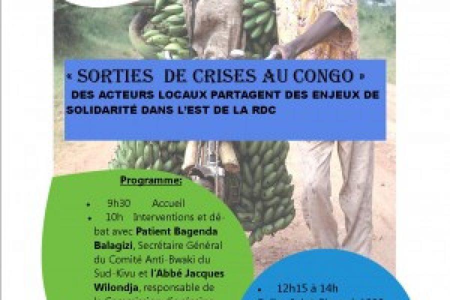 Bruxelles, le 16 mars 2013: Débat – Sorties de crises au Congo