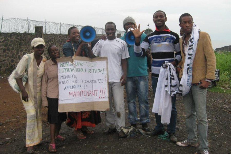 Grande manifestation à Goma, le jeudi 21 février 2013
