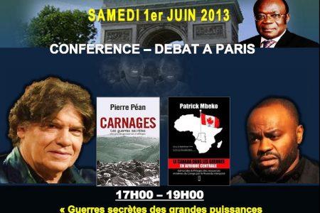Conférence «les guerres secrètes des grandes puissances en RDC» – Paris, le 1er juin 2013
