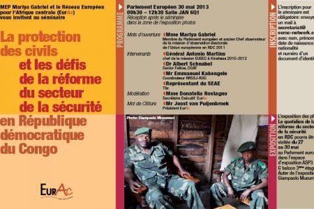«La protection des civils et les défis de la réforme  du secteur de la sécurité en RDC» – le 30 mai 2013 à Bruxelles
