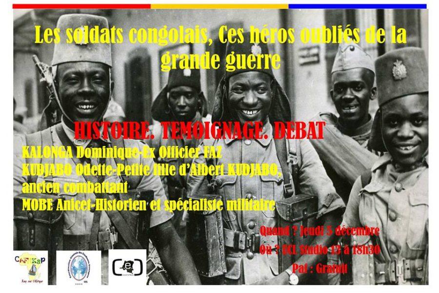 Conférence-débat: Les soldats congolais, ces héros oubliés de la grande guerre – 5 décembre 2013 à Louvain-La-Neuve