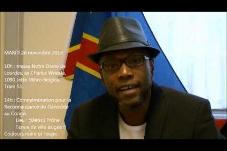 Commémoration pour la Reconnaissance du Génocide au Congo – 26 novembre 2013 à Bruxelles