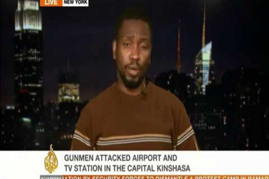Kambale Musavuli Discusses Attack At DRC State TV – Dec 30, 2013