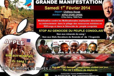 Grande marche – 1er février 2014 à Paris: Stop au génocide du peuple congolais