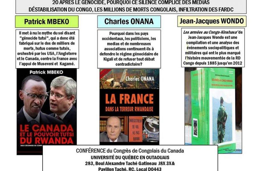 Conférence – Déstabilisation du Congo, millions de morts congolais & infiltration des FARDC – Le 7 juin 2014 à Ottawa
