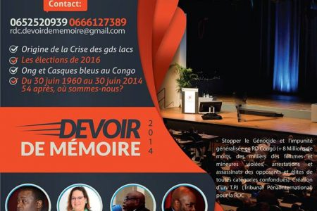 Conférence : Avenir du Congo/Devoir de Mémoire – 30 juin 2014 à Paris
