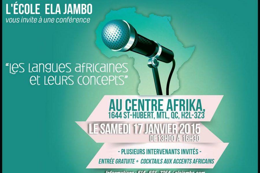 Conférence : Les langues africaines et leurs concepts – Le 17 janvier 2015 à Montréal