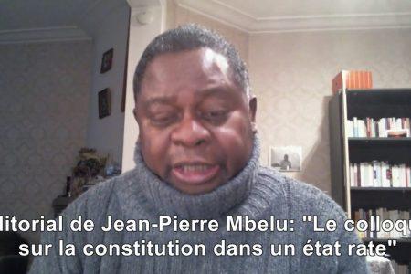 Le colloque sur la constitution congolaise dans un Etat raté
