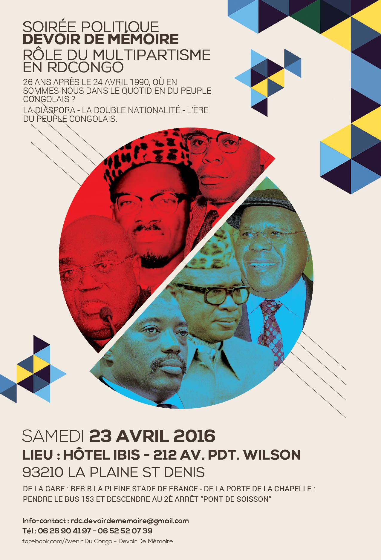 Ingeta soir e politique devoir de m moire 23 avril 2016 r le du multipartisme en rd congo - Stade porte de la chapelle ...