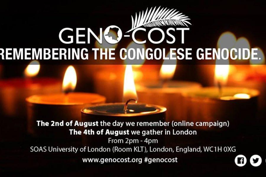 Geno-Cost 2018 – Un jour de commémoration et de réflexion – 4 août à Londres