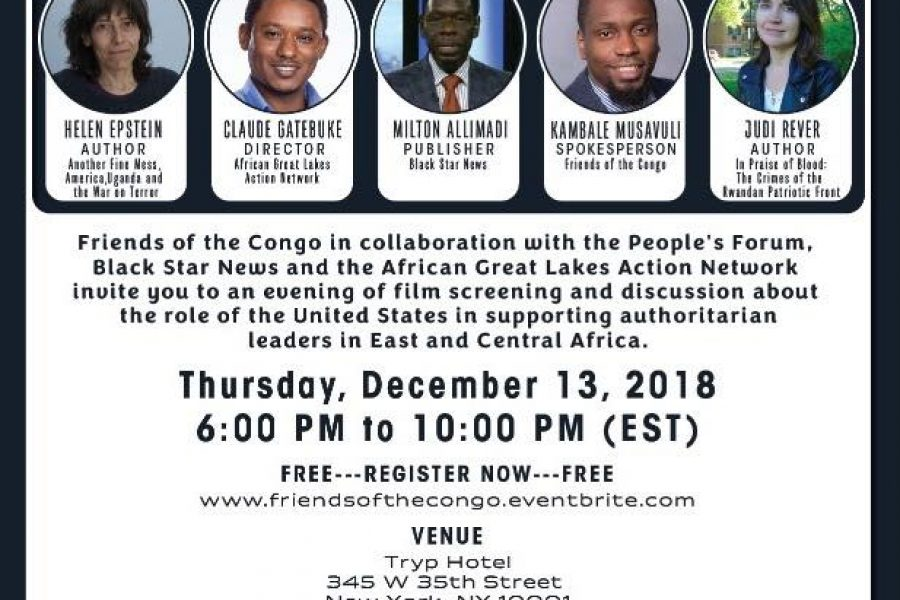 Conference – The « New Breed » of African Leaders: US Backed – NYC – 13/12/2018
