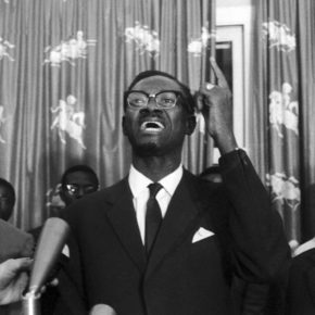 Patrice Lumumba speaks at the Senate meeting opposing him to Justin Bomboko at Leopoldville, Congo on September 10, 1960. He was victorious that day as well as the day before, and got 41 votes to two. (AP Photo/H. Babout)